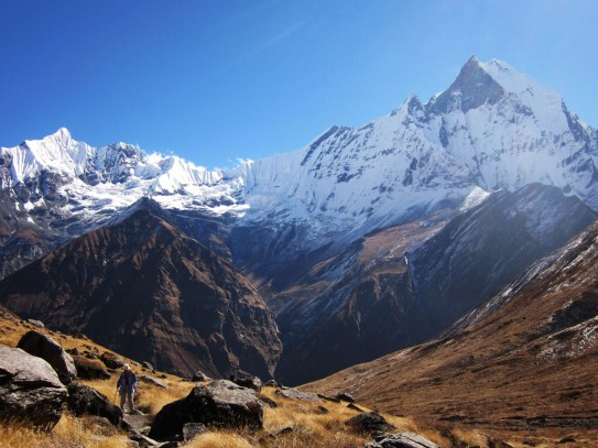 Machhapuchhre seen from ABC