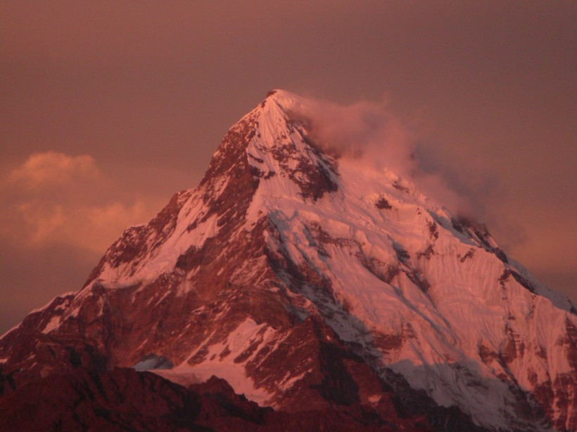 Annapurna I seen from Ghorepani