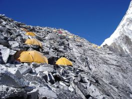 Tents set up at Am Dablam
