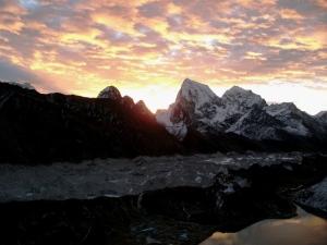 Sunset at Cholatse